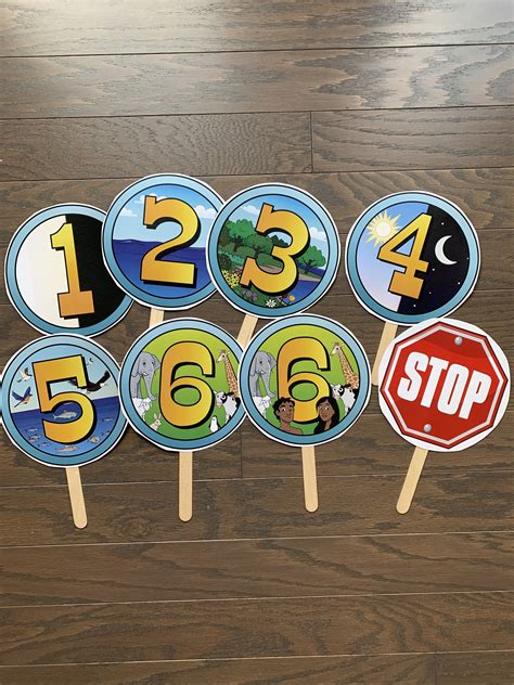 creation days story early year childhood bible sticks weeks sample craft olds