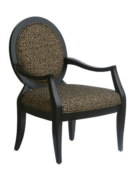 lenox transitional carved accent chair with oval back