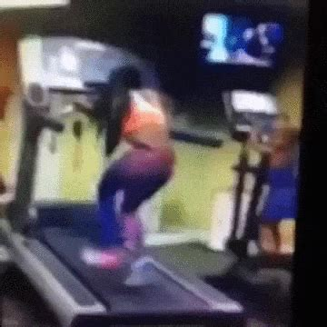 girl treadmill gif find share  giphy