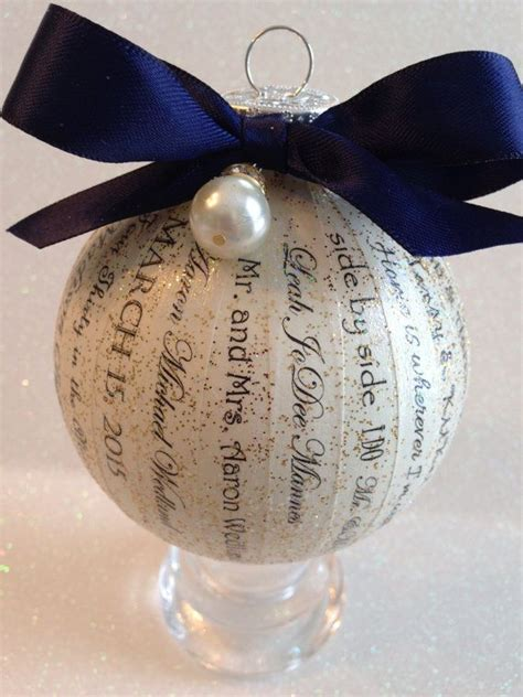 personalized wedding ornament unique elegant and custom
