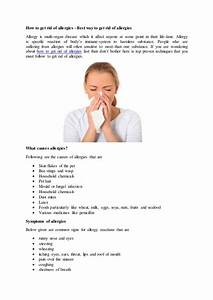 How to get rid of allergies best ways to follow  Allergy Rid