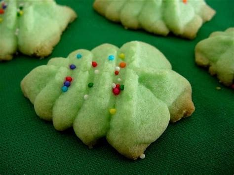 almond spritz press cookies recipe