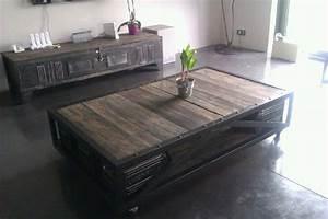 Roulettes Industrielles Anciennes : tables basses mobilier industriel l 39 or du temps ~ Teatrodelosmanantiales.com Idées de Décoration