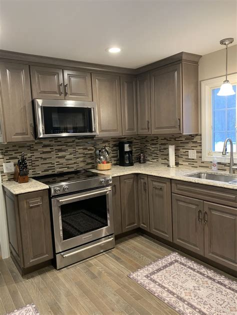 thomasville heather grey cabinets  home depot
