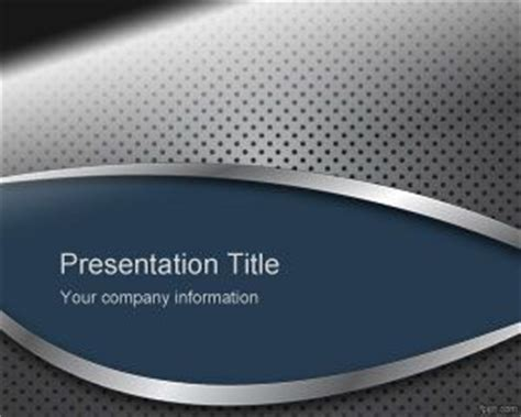 blue metal sheet powerpoint template