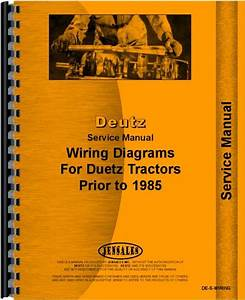 Deutz  Allis  D10006 Tractor Wiring Diagram Service Manual