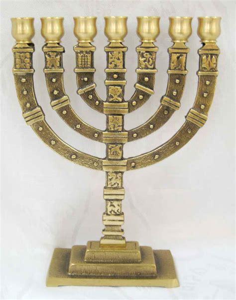 brass  branch menorah