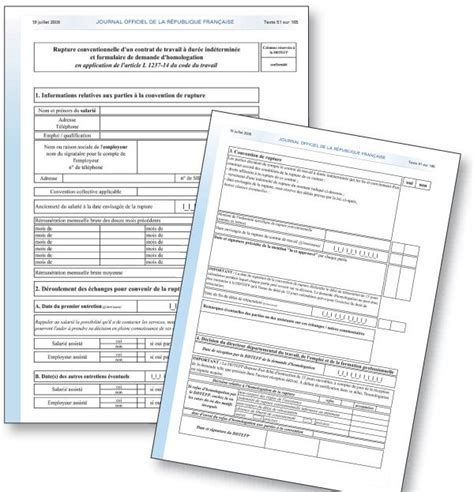 rupture conventionnelle pour un cadre 28 images administration du personnel d un salari 233