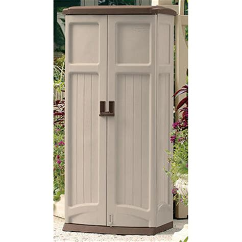 suncast 174 vertical storage shed 138479 patio storage at - Suncast Vertical Storage Shed Shelves