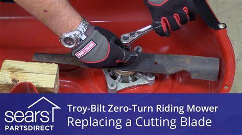 replace  troy bilt  turn riding mower cutting