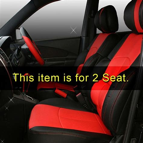 Hyundai Tiburon Seat Covers by Sports Seat Cushion Cover Leather 2p For