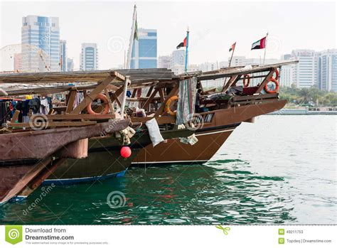 Boat Building In Uae by Fishing Boats In Abu Dhabi Uae Stock Photo Image