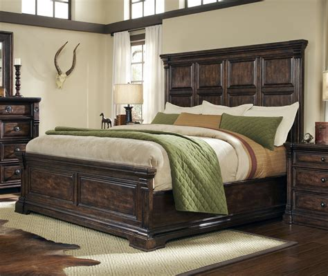 Buy Whiskey Oak King Panel Bed - Weathered Black by ART ...