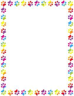 rainbow paw print border bordes  marcos cuadro de