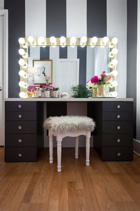 diy vanity mirror projects  show
