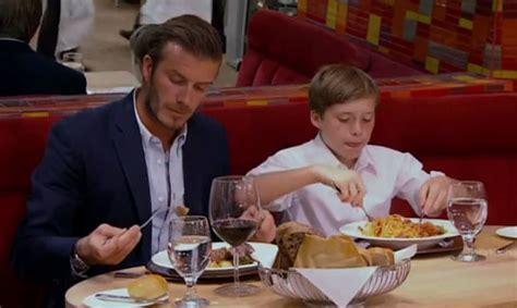David Beckham makes an appearance on Hell's Kitchen