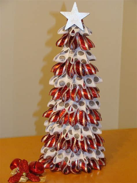 ribbon christmas tree christmas ideas pinterest