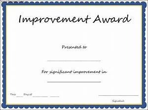 Free certificate templates most improved gallery for Most improved certificate template