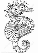 Mandala Coloring Horse Pages Printable Seahorse Zentangle Adult Beach Patterns Sheets Coloringpagesfortoddlers sketch template