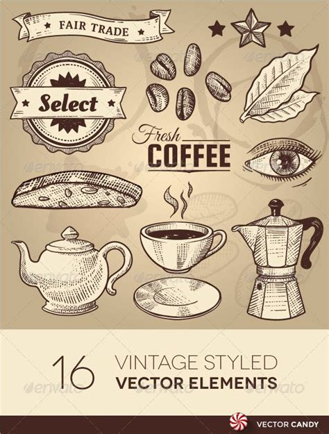 #moi #drawing #pen #coffee shop art #art #lines #line drawing #message me. Vintage Coffee Cafe Vector Elements Set #GraphicRiver Vintage Coffee Cafe Vector Elements Set ...