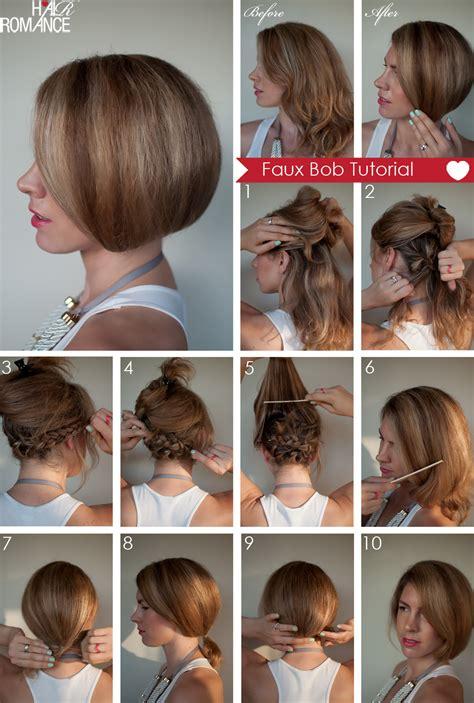 how to style hair hair tutorial how to create a faux bob hair