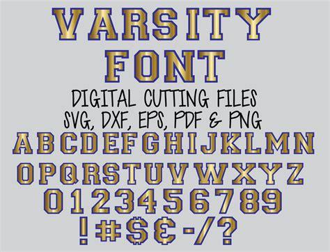 svg sports varsity font layered digital cutting files svg alphabet cut file svg dxf eps letter