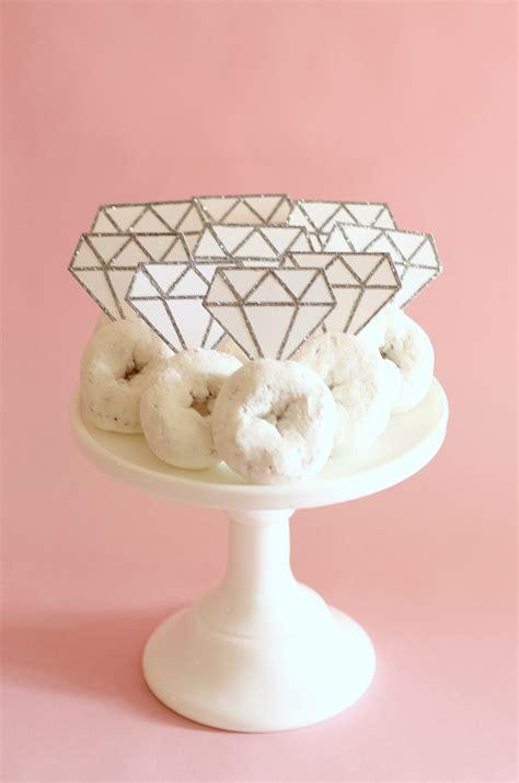 diy donut diamond rings evite