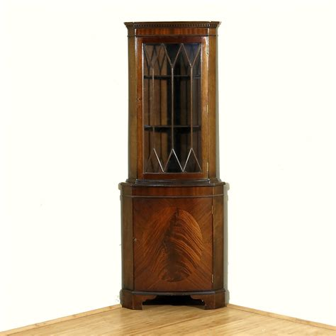 Corner Cabinet Bookcase by Vintage Mahogany Corner Curio Display Bookcase