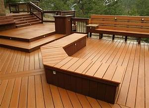 Composite Deck Bench Designs Know The Benefits Of Merbau Deck To Decorate Your Home