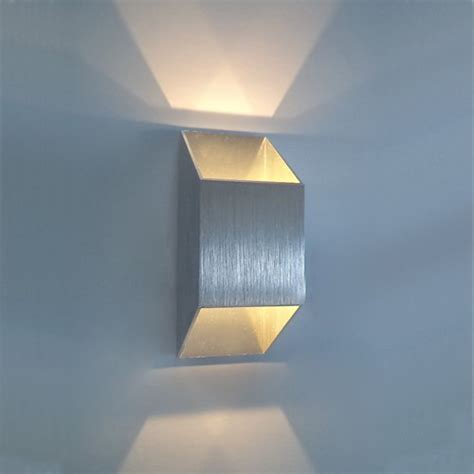 new 2w 2 1w led wall light sconce up recessed
