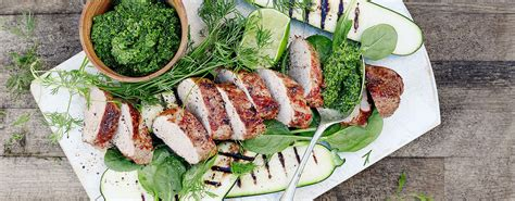 Grillet indrefilet av svin med squashsalat | KIWI