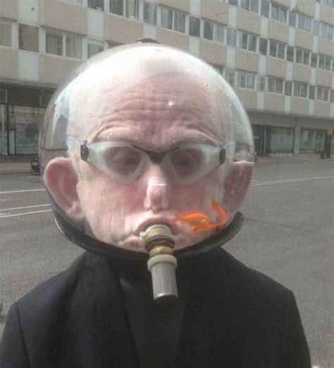 Fish Tank Helmet. Snorkel, Goggles, and Goldfish! WTF ...