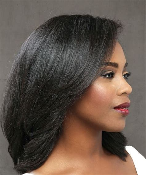 Medium Black Hairstyle by Medium Hairstyles And Haircuts For In 2018