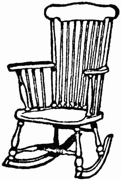 Chair Rocking Clipart Wooden Wood Etc