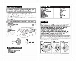 Craftsman 172417750 41775 10agrinder Eng Manual Readers