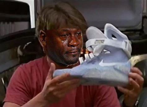 Michael Jordan Crying Meme - 20 times michael jordan cried over sneakers this year sole collector