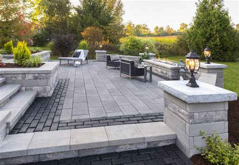 unilock michigan modern landscape design ideas for lansing michigan homes