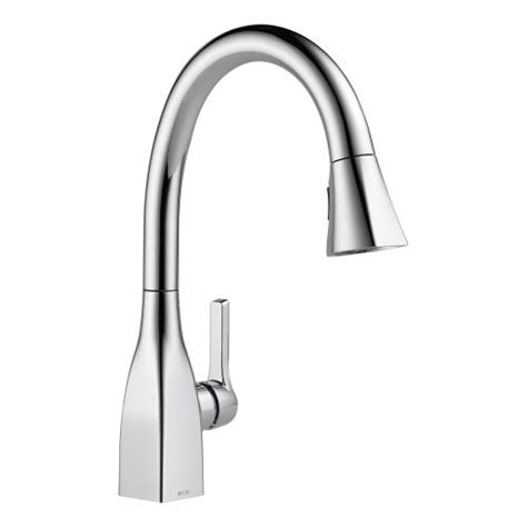magnetic kitchen faucet delta 9183 dst mateo pull down kitchen faucet with magnetic docking spray head ebay