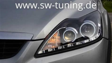 ford scheinwerfer soldout einbauvideo sw ccfl scheinwerfer ford focus mk2 da3 facelift sw tuning