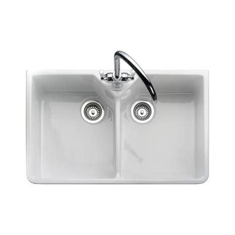 kitchen sink pics rangemaster belfast sink 2 0 bowl 2 in white 2819