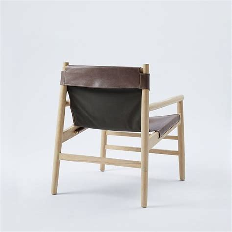 leather sling chair west elm furniture