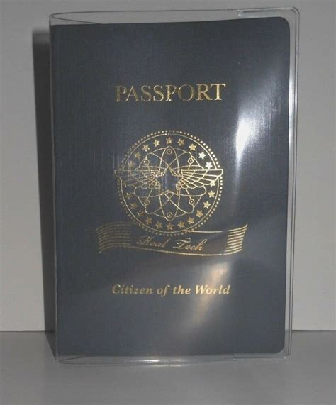 passport protector clear cover vinyl case sturdy plastic