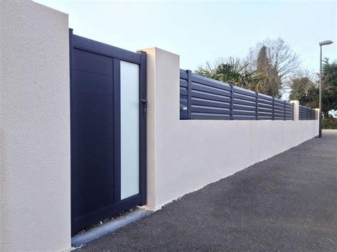 fabrication de cl 244 tures aluminium et pvc sur mesure terrasse cl 244 ture en 2019 fence doors