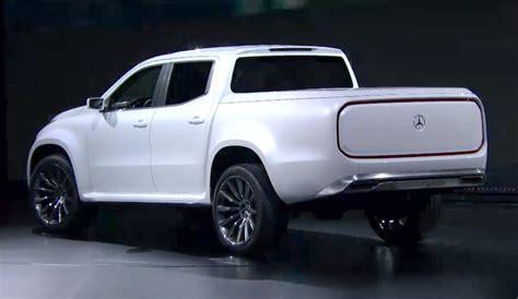 mercedes  class concept pickup truck  fast lane