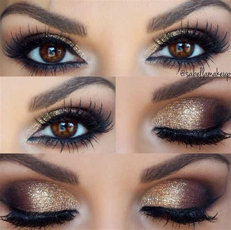 make up gold gold smokey eye