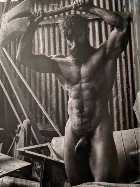 killian belliard nude — the french model and bearded lumberjack exposed