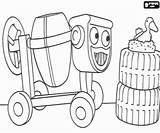 Bob Builder Dizzy Bird Coloring Cement Mixer Youngest Machine Oncoloring sketch template