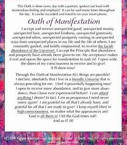 Oath Of Manifestation