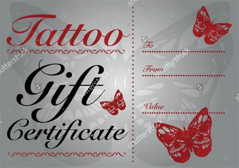 sample gift certificate templates   psd