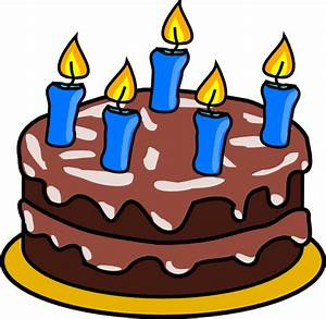 Chocolate birthday cake clipart vector and pictures ...